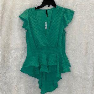 green going out shirt